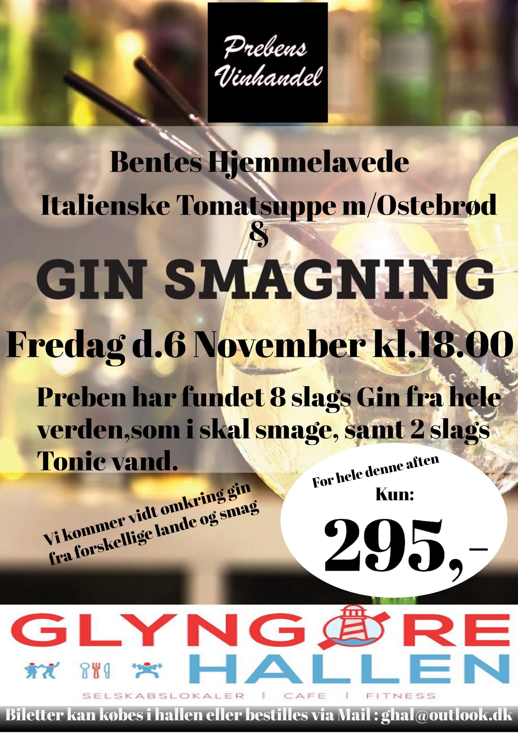 Mad og Gin smagning